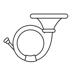 cornet icon outline style vector image vector image
