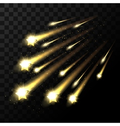 falling stars on transparent background Space star vector image vector image