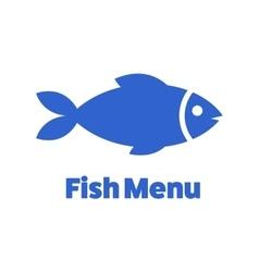 Fishgraphic design black and white fish cartoon vector image