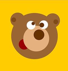 Fun cartoon bear head vector image
