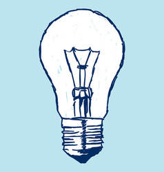 Incandescent Bulb Over Blue vector image
