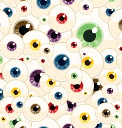 seamless eyeball pattern vector image vector image
