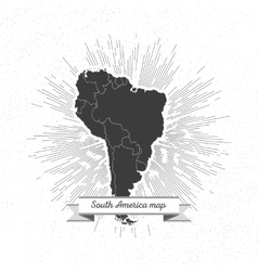 South america map with vintage style star burst vector image vector image