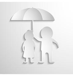 Together under umbrella vector