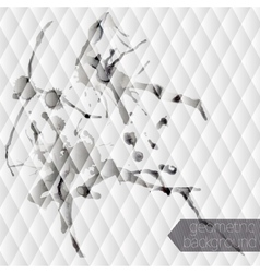 Monochrome seamless background with ink stain vector image vector image
