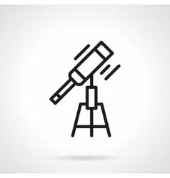 Optical telescope black line icon vector image