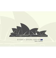 Sydney Opera house in Australia vector image