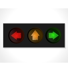arrow traffic lights vector image