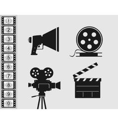 Elements set for filmmaking vector