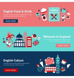 England banner set vector image vector image