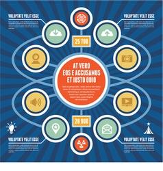 Infographic Concept - Business Scheme - Modern Tem vector image