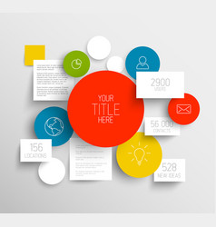 abstract circles and squares infographic template vector image