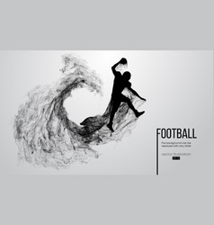 Abstract silhouette of a american football player vector