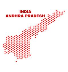 andhra pradesh state map - mosaic of valentine vector image