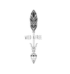 arrow print design with slogan vector image