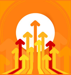 Arrows move to up concept economy success vector