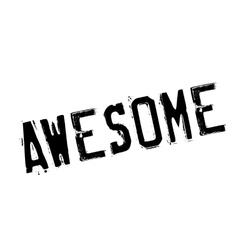 Awesome stamp rubber grunge vector