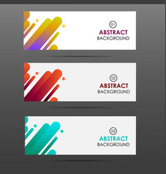 banner with abstract colorful shapes vector image