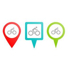 bike man pin icon multicolor pin icon vector image
