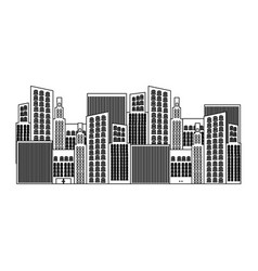 black silhouette of city buildings vector image