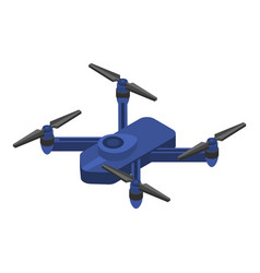 blue drone icon isometric style vector image
