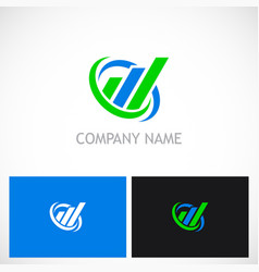 business finance line progress company logo vector image