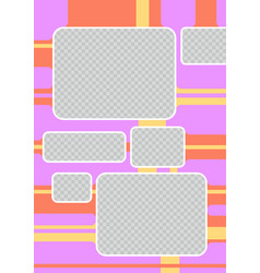 Colorful page for scrapbooking vector