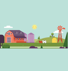 Countryside landscape - horizontal banner or vector