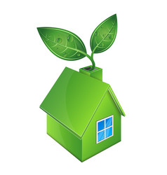 Eco house green vector