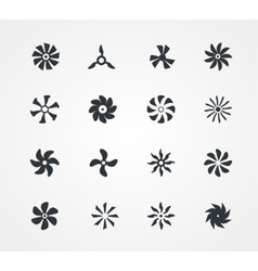 Fan icons collection vector