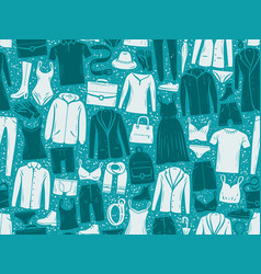 fashion seamless background or pattern clothes vector image