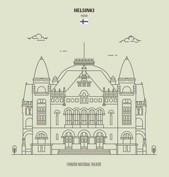 finnish national theatre in helsinki vector image