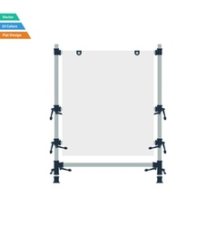 Flat design icon of table for object photography vector