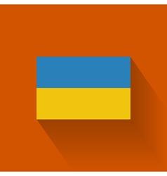 Flat flag of ukraine vector