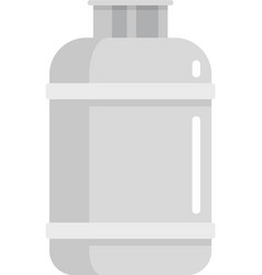 Gas cylinder lpg icon flat isolated vector