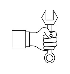 hand with tool vector image