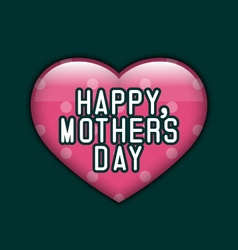 Happy Mothers Dayl Background With Heart vector image