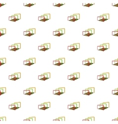 Hurdles on a playground pattern cartoon style vector
