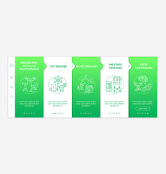 Innovative agriculture technology onboarding vector