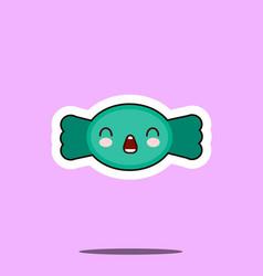 kawaii candy sugar sweet cute design flat cartoon vector image