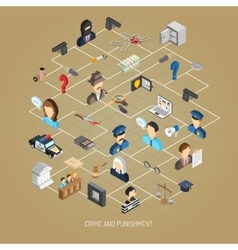 Law Isometric Concept vector image