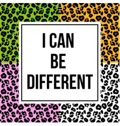 leopard skin with trendy phrase for print vector image