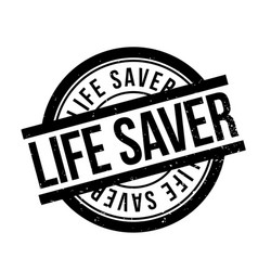 life saver rubber stamp vector image