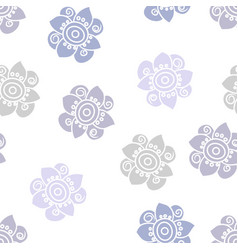 lilac colored scattered floral pattern on white vector image