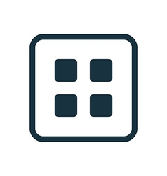 list icon Rounded squares button vector image