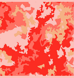 living coral color camo pattern vector image