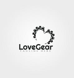 Logo design technology with concept gear vector