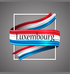 luxembourg flagofficial national luxembourgish vector image