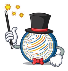Magician factom coin mascot cartoon vector