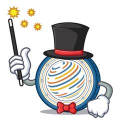 Magician factom coin mascot cartoon vector